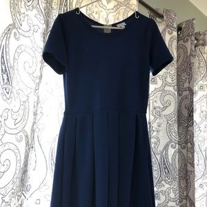 GUC LuLaRoe Amelia Dress w/Pockets. Navy Blue- LG